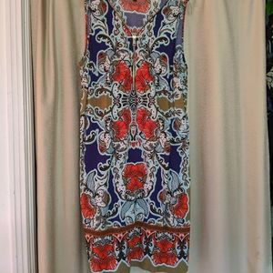 Multi color, bold print dress